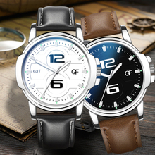 Luminous Retro Design Men Watches Exaggerated Number Business Quartz Leather Strap Male WristWatch Gift Clock Relogio Masculino