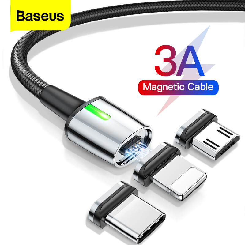 Baseus Magnetic Micro USB Cable For iPhone Samsung Fast Charging Magnet Charger Adapter USB Type C Mobile Phone Cables Wire Cord(China)