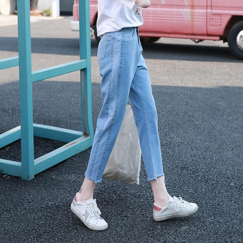 2019 New Style Women's No Bombs Mixed Colors Jeans Retro Loose-Fit Slimming Capri Pants Trend Versatile Harem Pants
