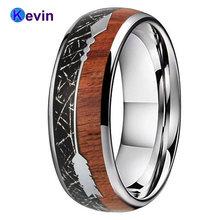 Вольфрамовый браслет для свадьбы мужчин и женщин кольцо с купольным