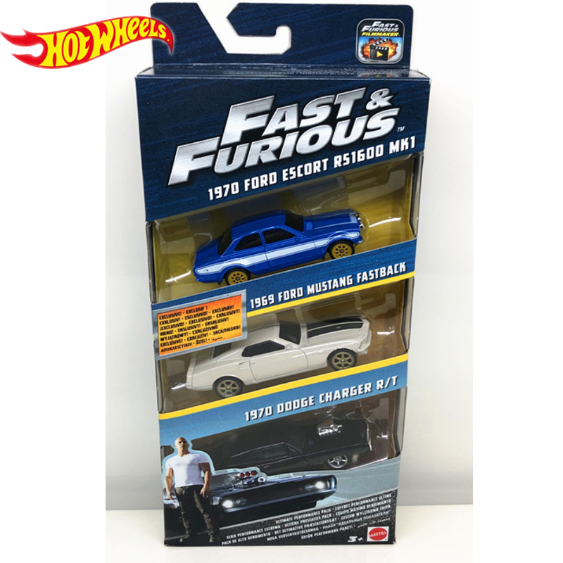 Genuine Hot Wheels Fast and Furious Series 3 Cars Dodge Charger Preferential Pack Kid Toys Boy Birthday Gifts FCG01 4