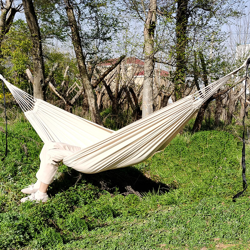 Swing-Bed Hammock Hanging Canvas Patio Double-Hammock Hiking Outdoor Camping Fabric Travel