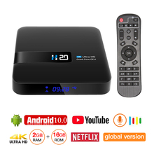 IPTV BOX Android 10 4K Media Player 3D Video Youtube Netflix 2GB 16GB Smart WIFI