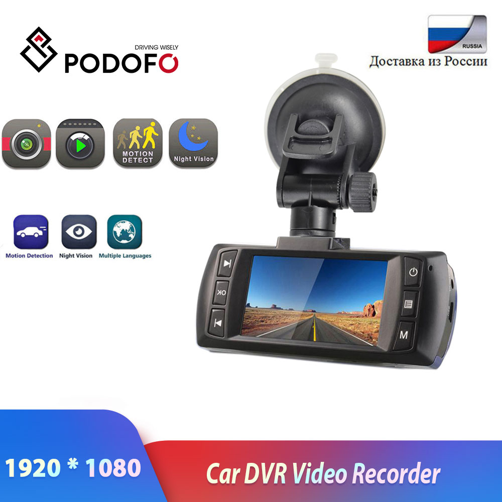 Podofo Car DVR Novatek 96650 AT500 Dashcam FHD 1080P Video Recorder Registrator Recorder Dash Cam G