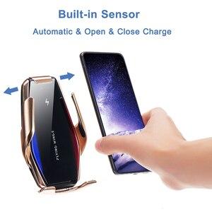 Image 4 - FLOVEME soporte de teléfono inalámbrico para iPhone 11 Pro Max, 7, 8, 11, Samsung S10, S9, S8, soporte de teléfono para coche