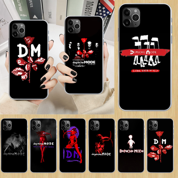 Depeches band Mode rock Phone Case cover For iphone 5 5S 6 6S PLUS 7 8 12 mini X XR XS 11 PRO SE 2020 MAX transparent coque image