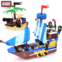 GUDI Legoingly Caribbean Black Pearl Ghost Ship large Models Building Blocks educational Bricks Birthday Toy Compatible