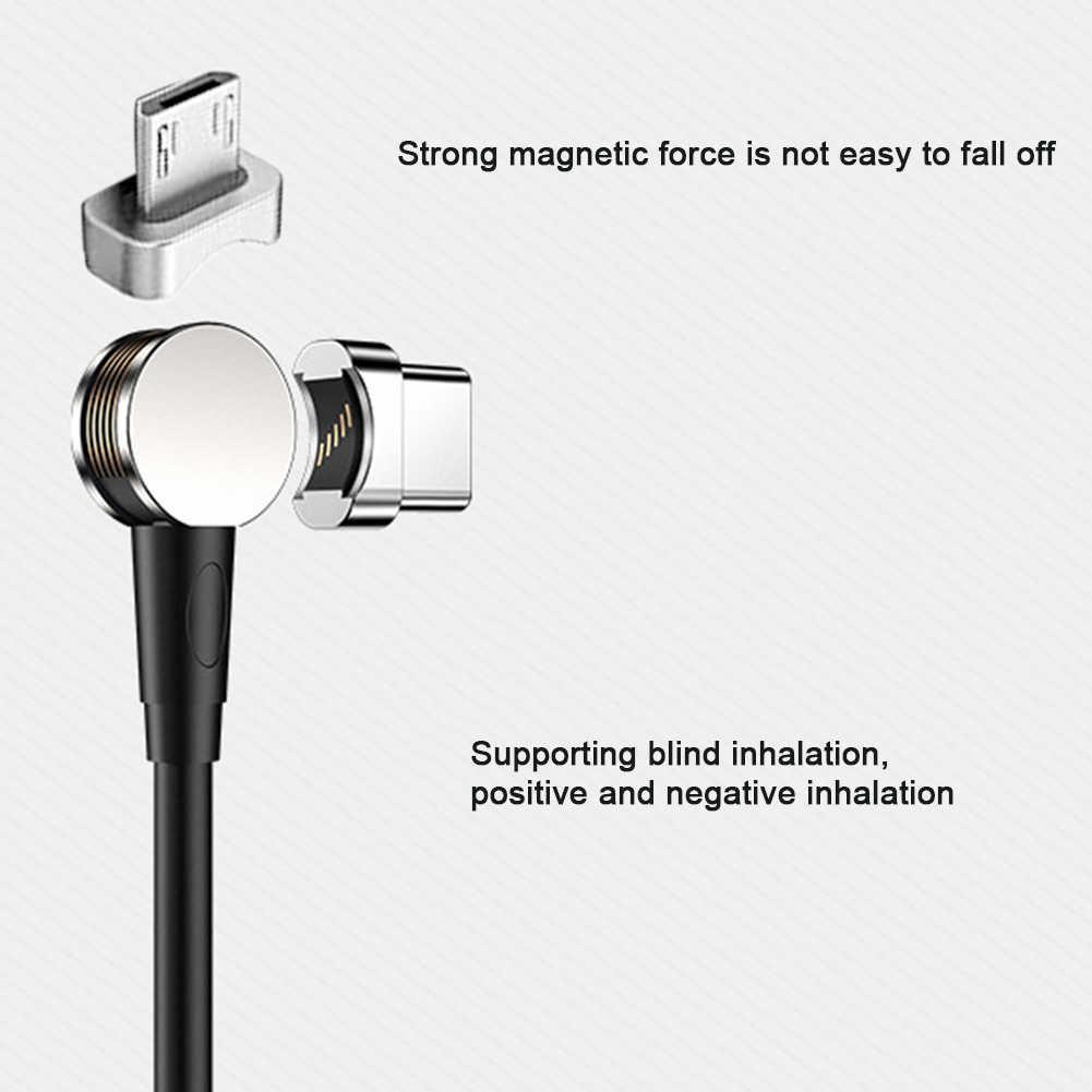 USB magnetica di CableTablets Intrecciato Tipo C Linea Dati Gomito Universale 180 Gradi Del Telefono Mobile Micro Rotazione Veloce Adattatore di Ricarica