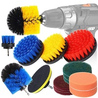 TOP All Purpose Power Scrubber Cleaning Kit  Drill Brush Attachments Set Including Scrub Pads & Sponge for Grout  Tiles  Sinks Grinders     -