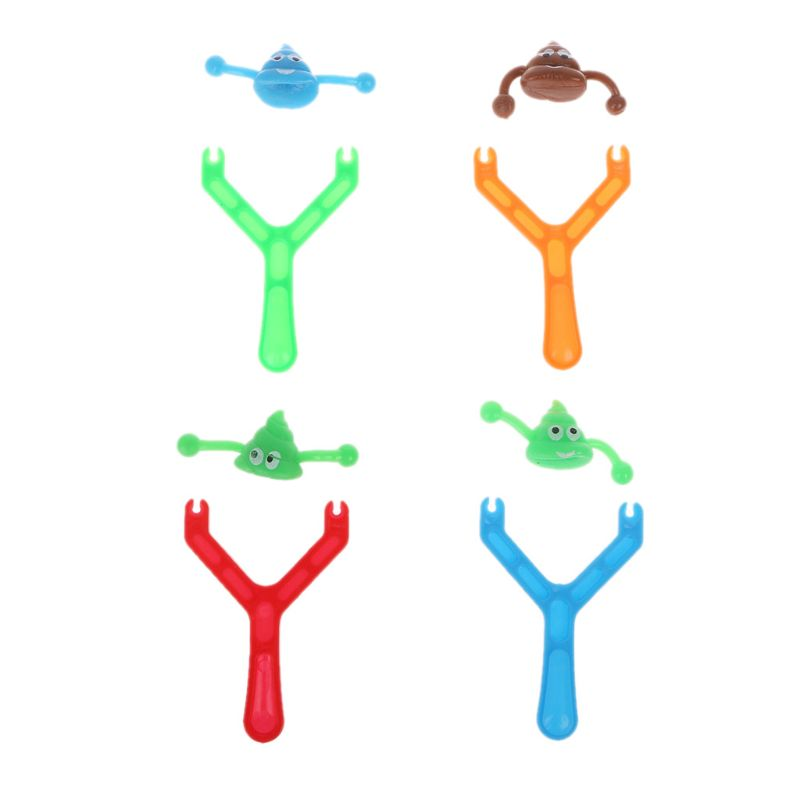 Novelty Smiley Poo Slingshot Boys Fun Poop Shooting Toy Christmas Stocking Fillers Gag