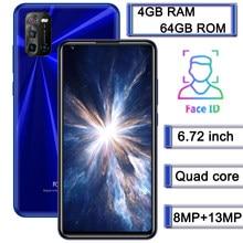 10X Smartphones mondiaux 4G RAM + 64G ROM 8MP + 13MP Quad Core téléphones mobiles Android 6.72
