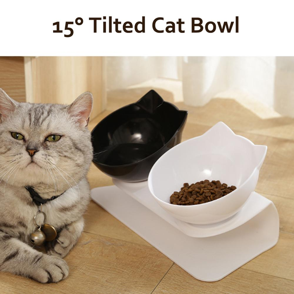 Antislip Enkele/Dubbele Kat Kom Hond Kom Met Verhoogde Stand Dierbenodigdheden Kat Water Kom Voedsel Bowls voor Hond Feeder Huisdier Producten