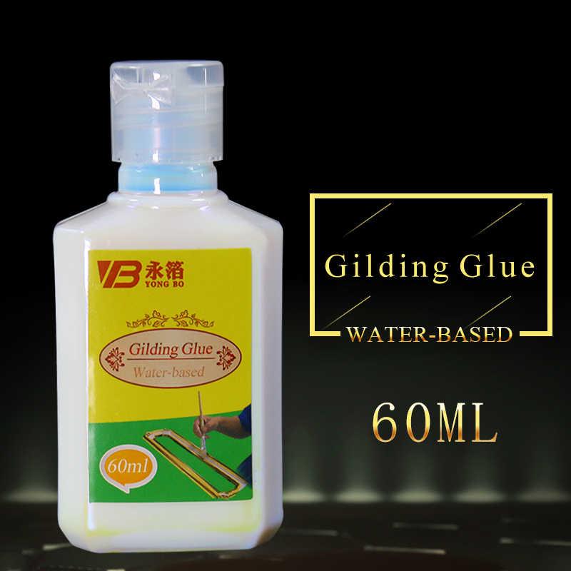 ทองฟอยล์กาว,Gildingกาวสีทองน้ำสิ่งแวดล้อมกาว 60mlสำหรับทองฟอยล์เงิน