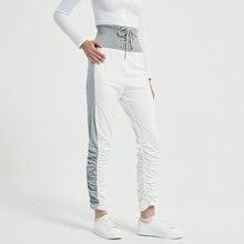 Леггинсы для бега женские спортивные штаны плиссированные брюки