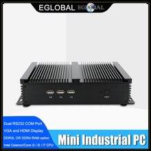 Fansız endüstriyel X86 Mini PC i7-8565U i5-8250U 7*24 çalışma 2 * RS232 HDMI VGA 1 * Lan 7 * USB WiFi alüminyum sağlam Itx bilgisayar