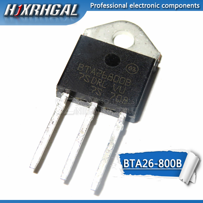 1pcs BTA26 BTA26-600B TO-3P BTA26-800BRG BTA26 600B 800V 25A Bidirectional Thyristor  New And Original HJXRHGAL