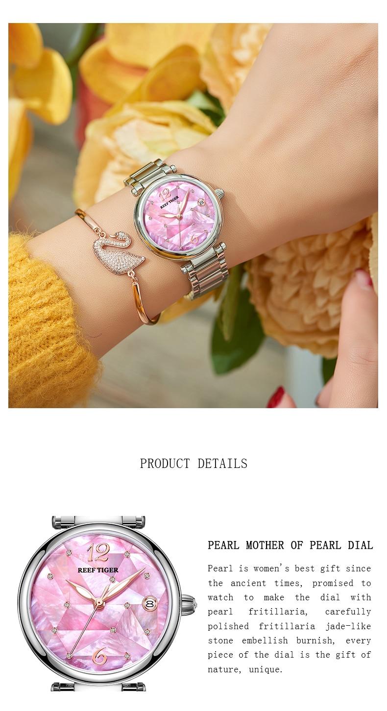 Reef tigerrt novo design moda senhoras relógio