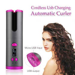 Auto Ceramic Wireless Curling Iron Hair Waver Tongs Beach Waves Iron Curling Wand Air Curler USB Cordless Automatic Hair Curler