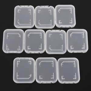Box Storage-Boxes Memory-Card-Case-Holder Standard for Sd-Sdhc New Transparent 10pcs/Pack