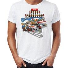 Men's T Shirt Atari Classic Games Pole Position Galaxian Dra