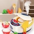 Детские кухонные игрушки, имитация электрической рисоварки, Интерактивная игрушка, мини кухня, еда, ролевые игры, игрушки для девочек