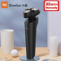 Xiaomi-Afeitadora eléctrica Showsee F303-BK para hombre, afeitadora en seco y húmedo, impermeable IPX7, 3 hojas, carga tipo C