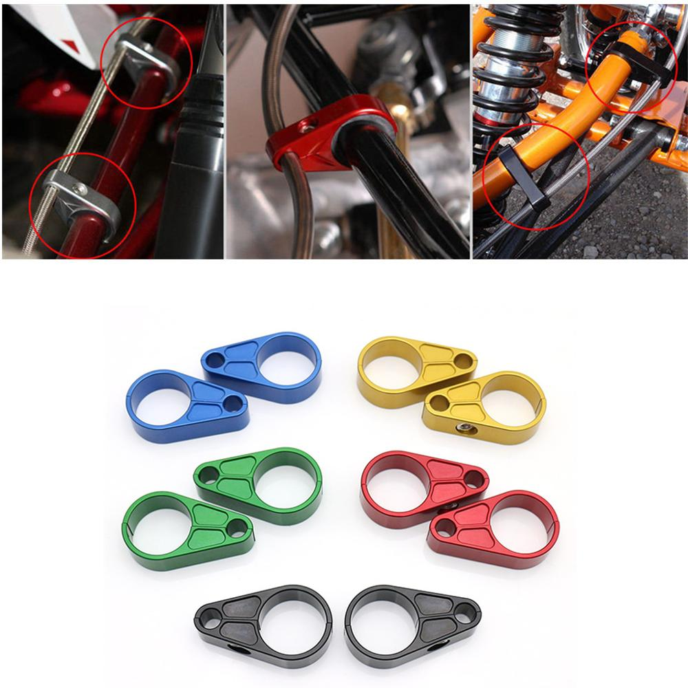 A-Arm ATV Brake Line Clamps For <font><b>Yamaha</b></font> <font><b>YFZ450</b></font> Raptor 125 250 350 660 700 Banshee 350 Blaster Warrior Big Bear Grizzly 700 image