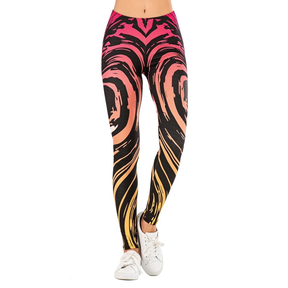 Brand Sexy Women Legging leaf Printing Fitness leggins Fashion Slim legins High Waist Leggings Woman Pants 28
