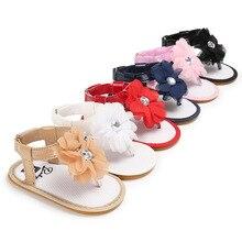 Brand New Summer Newborn Baby Girl Sandals Flower  Soft Sole Baby Shoes Prewalker Summer Princess Sandals for Girls
