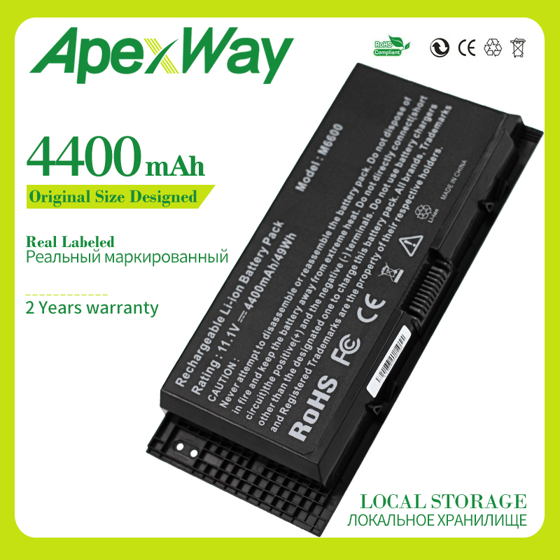 Apexway FV993 FJJ4W PG6RC R7PND OTN1K5 Laptop Battery For DELL Precision M6600 M6700 M6800 M4800 M4600 M4700