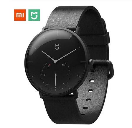 XIAOMI Mi Mijia QUARTZ Smart Watch Original Mi with Double Dials Alarm Sport Sensor Pedometer Time Leather Mi HomeAPP Luxury New