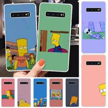 Wumeiyuan Anime simpson Custom Photo Soft Phone Case For Samsung S6 S7 S7 edge S8 S8 Plus S9 S9 Plus S10 S10 plus S10 E(lite)