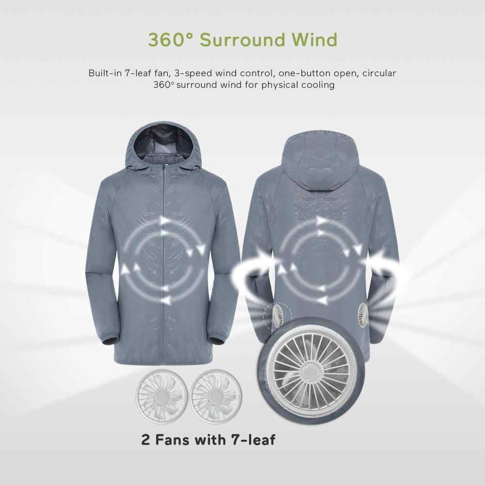 Summer Cooling Fan Clothes 3-speed USB Air Conditioning Suit With 4 Fans UV Protection Wear Splash-proof Air Conditioning Jacket