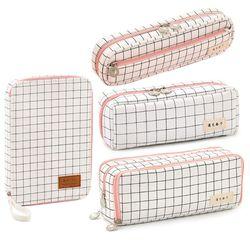 Чехол-Карандаш для девочек, прочные канцелярские принадлежности большой вместимости, школьная коробка с рисунком