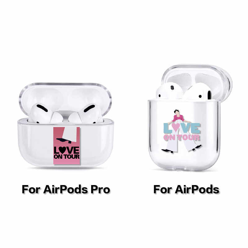 Harry Styles uwielbia ciebie cienka linia etui na słuchawki do Apple iPhone pudełko do ładowania AirPods Pro twarde przezroczyste akcesoria ochronne