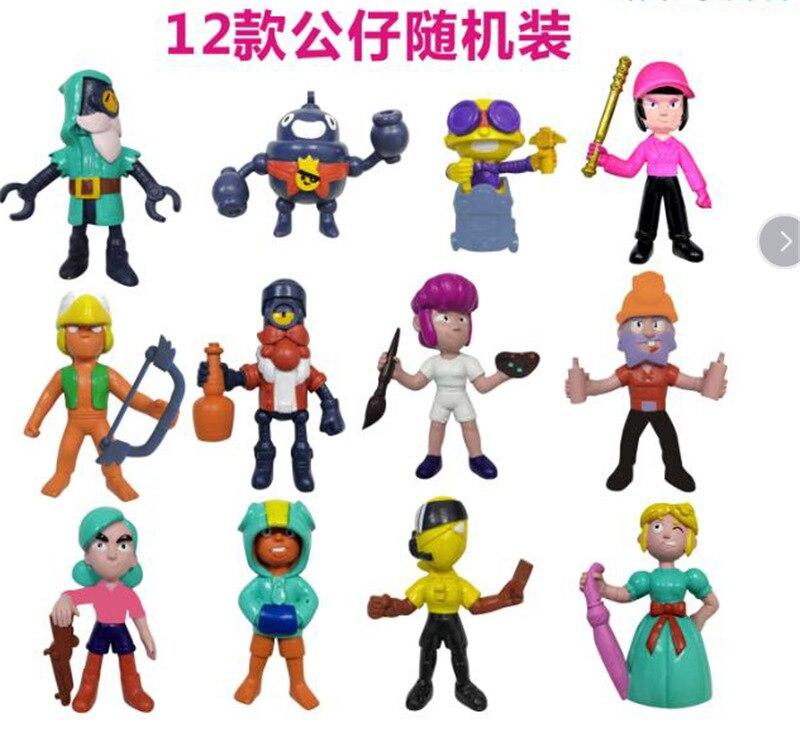 Brawl figure game cartoon star hero figure model Spike Shelly Leon PRIMO MORTIS doll kawaii cute toy gift for boy girl kid