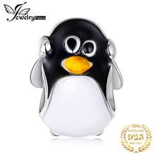 JewelryPalace 925 Sterling Silver Penguin Beads Charms Original Fit Bracelet original Jewelry Making