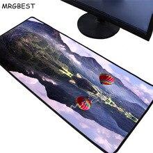 MRGBEST горячие продажи негабаритных коврик для мыши Старого Света красный шар игровой коврик для мыши противоскользящим коврик из натурального каучука, большой Lockedge ХХL