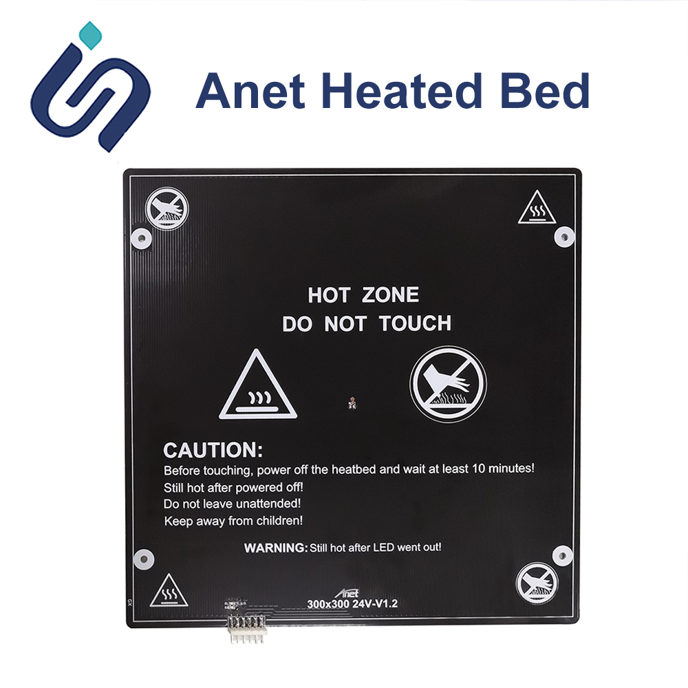 Anet A6 A8 ET4 E10 E12 E16 12V/24V Aluminum MK3 <font><b>Heated</b></font> <font><b>Bed</b></font> Hotbed with cable <font><b>220</b></font>*220mm/<font><b>220</b></font>*270/300*300 Hot <font><b>bed</b></font> 3D Printer Parts image