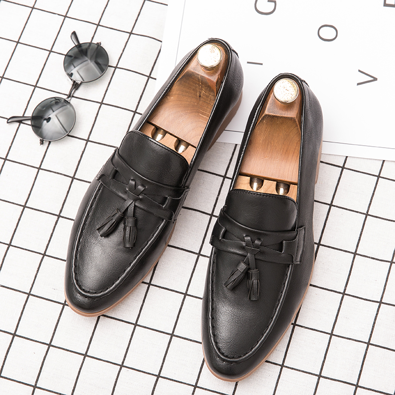 H98f00b793fc94a64907ace2457e0f8873 Summer Outdoor light soft Leather Men Shoes Loafers Slip On Comfortable Moccasins Flats Casual Boat Driving shoes size 38-47