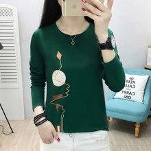 AOSSVIAO – T-shirt surdimensionné imprimé pour femme, Streetwear, couleur bonbon, ample, basique parfait, vêtement vert, collection automne-hiver 2021