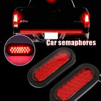 DC 12V Rear Lamps Warning Lights Vehicle Super Bright Tail Lights for Stop Indicator