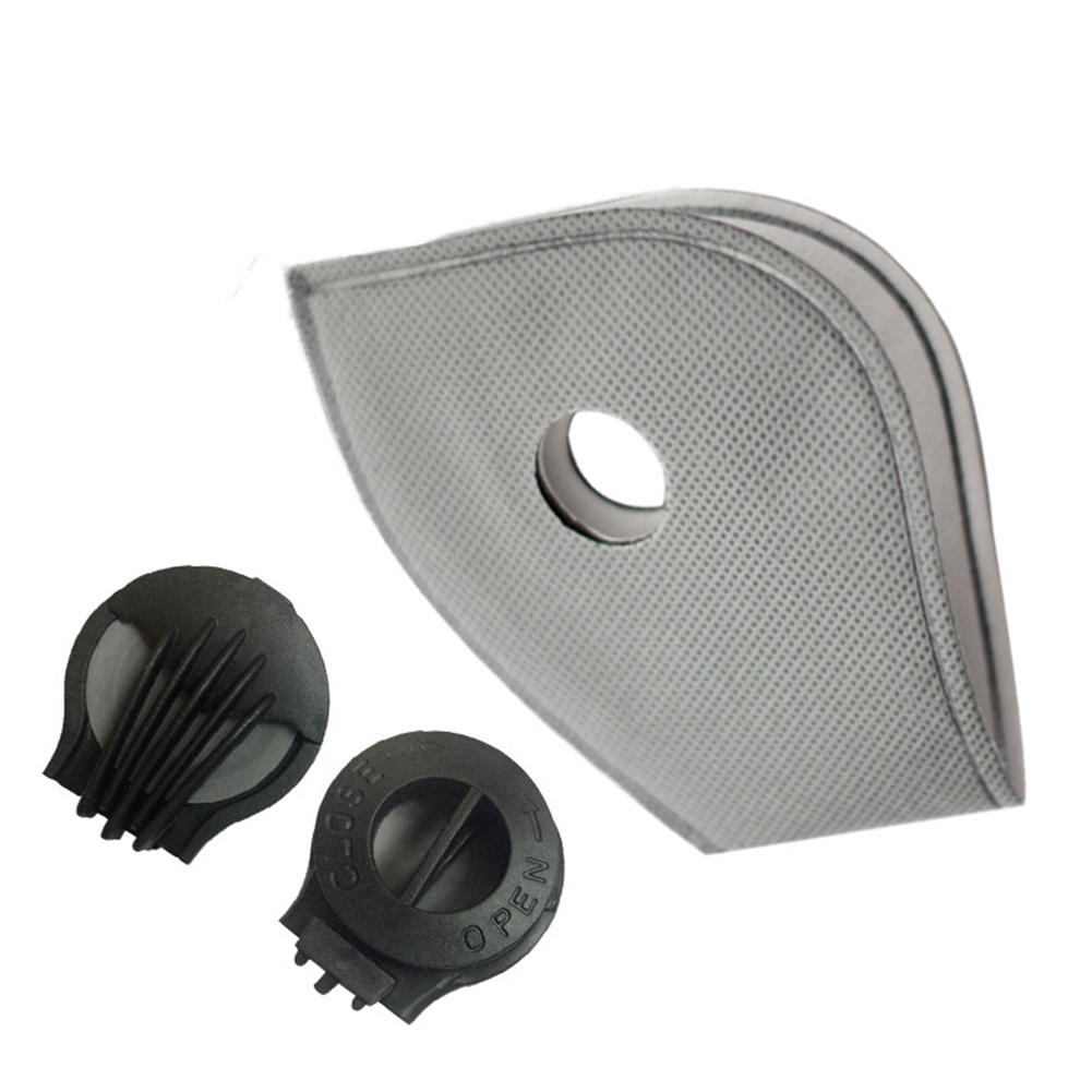 1/5/10/20 Set Anti PM2.5 Cotton Anti Haze Anti-dust Mask Activated Carbon Filter Respirator Mouth-muffle With Valve NShopping
