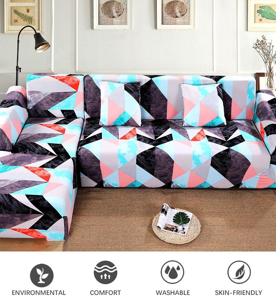 Corner Sofa Covers Elastic Stretch Sofa Towel L shape Chaise Longue Need Buy 2pc
