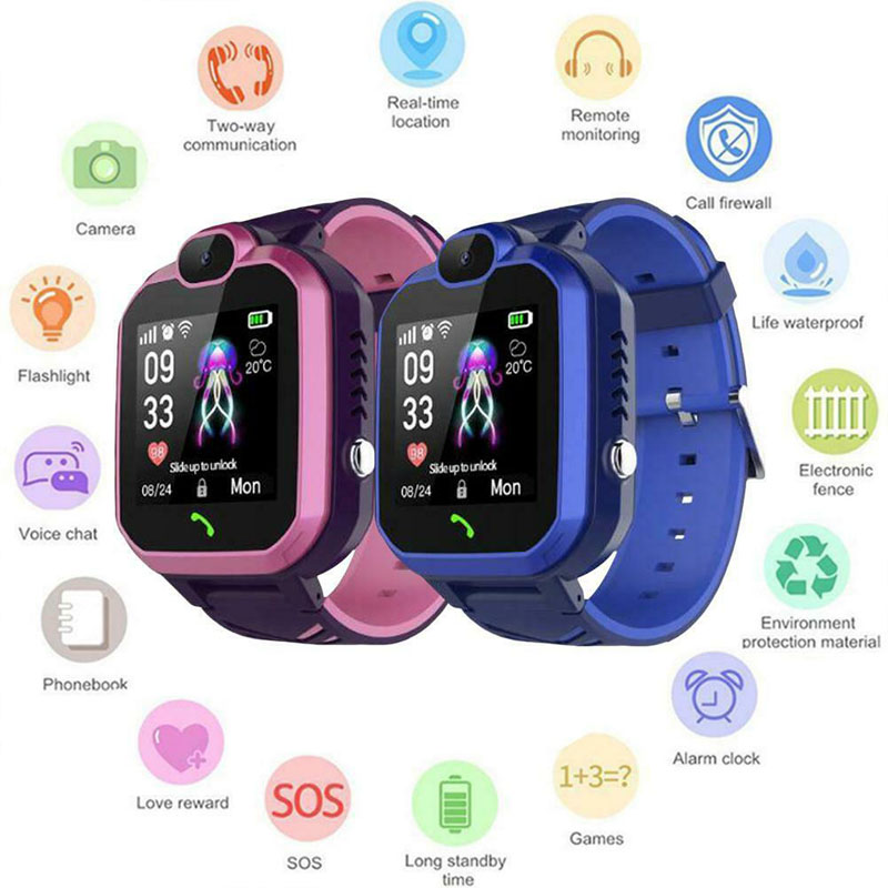 Q13 Children Smart Watches For Kids Camera Lighting Touch Screen Waterproof SOS Antil-lost 2G SIM Card Position Call Walkie Talk