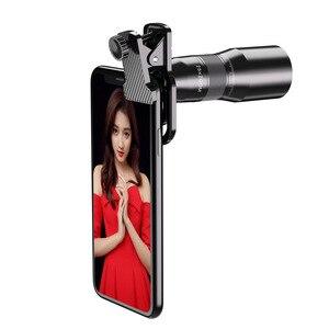 25X телеобъектив, телефон HD объектив камеры, зум-объектив, монокулярный телескоп с металлическим штативом для iPhone samsung большинство смартфоно...
