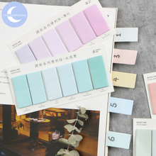цены YueGuangXia 6 Colors Gradient  Page Flags Memo Pad Sticky Notes Notepad Diary Creative Self-Stick Note Memo Pads 120pcs/lot