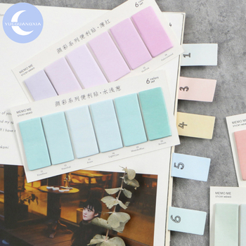 YueGuangXia 6 Colors Gradient  Page Flags Memo Pad Sticky Notes Notepad Diary Creative Self-Stick Note Memo Pads 120pcs/lot sass page 6