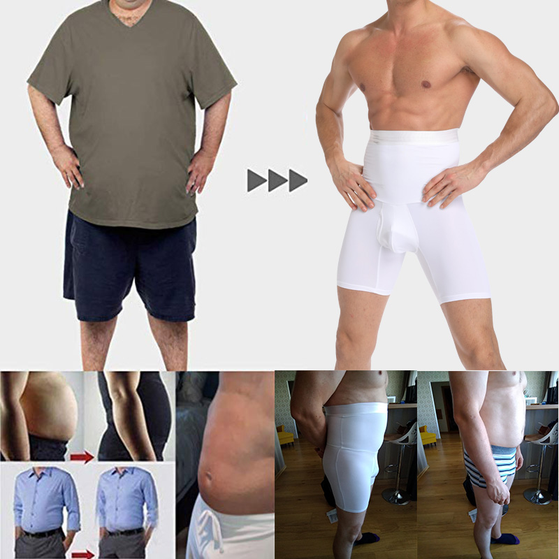 Image 5 - 남자 tummy 컨트롤 반바지 높은 허리 슬리밍 속옷 바디 셰이퍼 원활한 배꼽 거들 복서 팬티 남자 shapewear모양을 만드는 사람   -