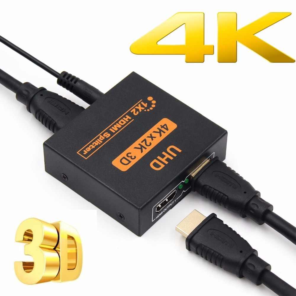 Besiuni 4K Bộ Chia Tín Hiệu HDMI Full HD 1080 P Video Switch HDMI Switcher 1X2 1X4 Dual màn Hình Hiển Thị HD DVD PS3 Xbox